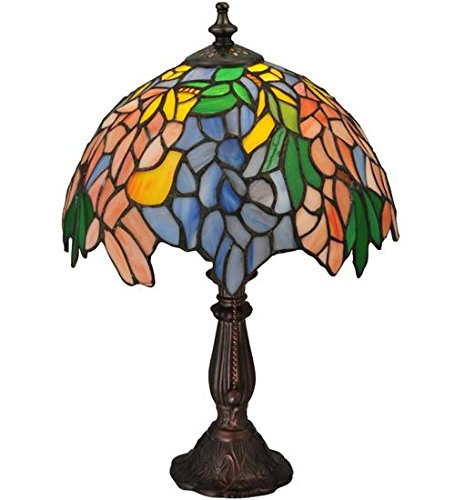 Meyda Tiffany 133348 Lighting 15'' Height Finish: Orange Purple/Blue