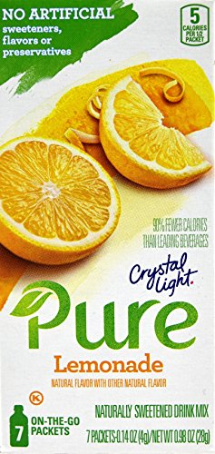 (Crystal Light Pure Lemonade On The Go Drink Mix, 7-Packet Box (4 Box Pack))