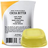 cocoa Organic Cocoa Butter Large 1 lb Bar by Mary Tylor Naturals, Raw Unrefined Food Grade, Non-Deodorized, Rich In Antioxidants Great For DIY Recipes, Lip Balms, Lotions, Creams, Stretch Marks