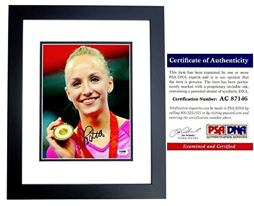Nastia Liukin Signed - Autographed 2008 Beijing Olympics Gymnastics 8x10 Photo BLACK CUSTOM FRAME - PSA/DNA Certificate of Authenticity (COA) - Olympic Gold Medal Gymnast from Real Deal Memorabilia