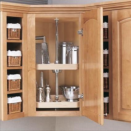 amazon com 22 d shape 2 shelf lazy susan rev a shelf d shape rh amazon com Lazy Susan Corner Cabinet Organizer upper corner cabinet lazy susan dimensions