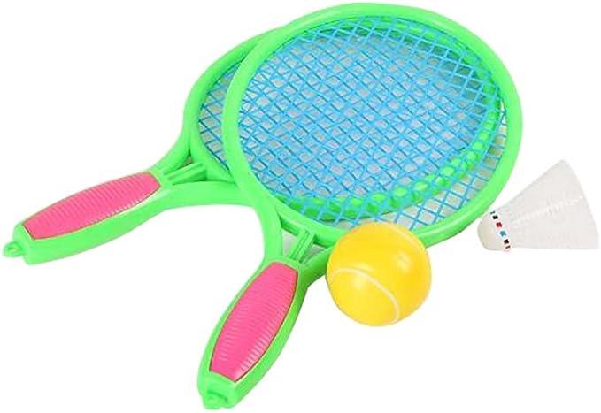Black Temptation Raquette de Tennis Jeux pour Enfants Raquette de Badminton Fitness Jouets-Randon Color