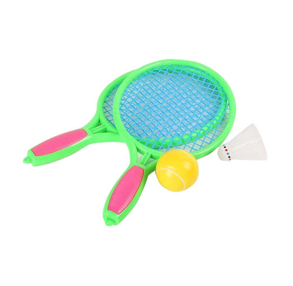 Tennisschläger Kinderspiele Badmintonschläger Fitness Toy-Green Black Temptation