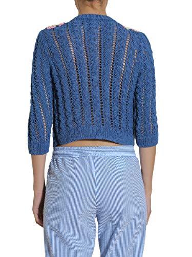 Boutique Coton Femme Moschino Bleu Sweatshirt A091008030309 vFv1wq
