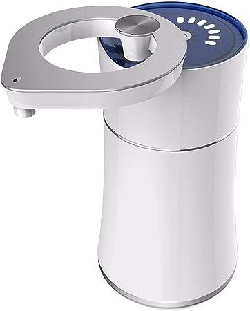 Purificador de agua portátil de sobremesa, dispensador de agua de hidrógeno de alta capacidad generador de agua de hidrógeno filtro de agua con 360 ° cubierta giratoria, alimentado por batería: Amazon.es: Hogar