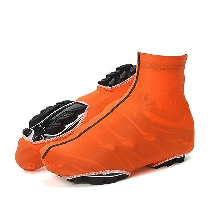 Cubre zapatillas Ciclismo Ciclismo Chanclas impermeables, Ciclismo Cubiertas de zapatos a prueba de viento Cálido