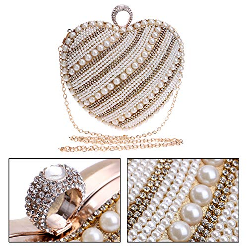 Pearls Chain Dress Evening Clutch Bags Handbag Wedding Gold Womens Purse For qXnq8U4wS
