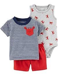Baby Boys' 3-Piece Little Short Sets