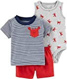 Carter's Baby Boys' 3 Piece Layette Set (Baby) (18 Months, Pocket Crab)