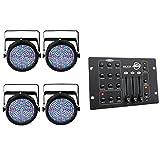 Chauvet SlimPar 64 LED DMX RGB Stage Light (4 Pack) + American DJ DMX Controller