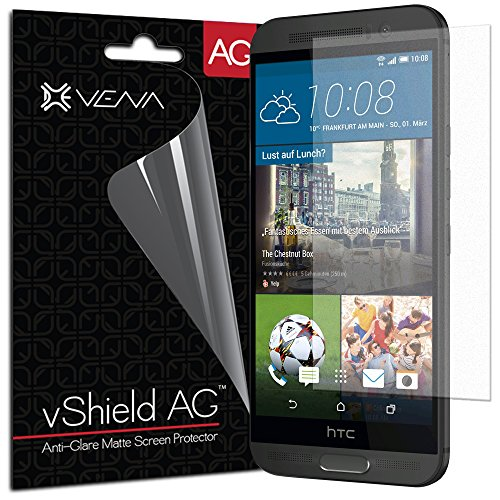 HTC One M9+ Screen Protector - VENA vShield [Anti-Glare Matte] Anti-Scratch Shield with Lifetime Replacement Warranty for HTC One M9+ (3 Pack)