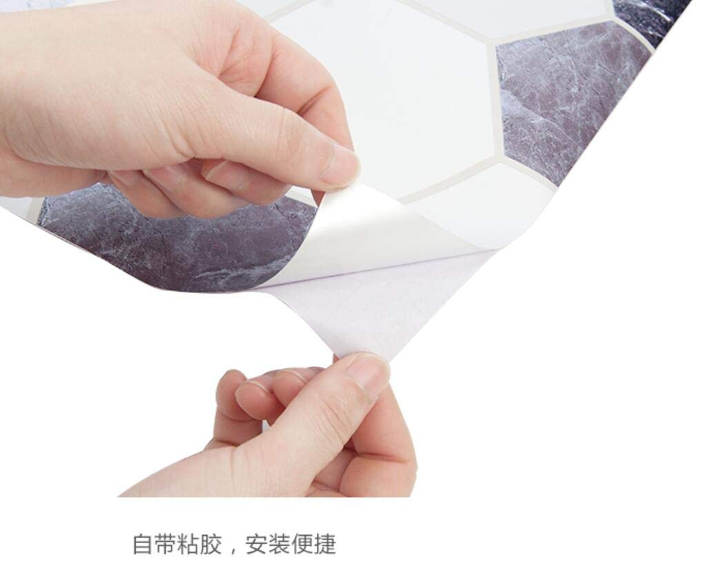 Sweetstore Household Paper Gray Roll Kitchen countertop Cabinet Furniture is renovated Thick Waterproof PVC Easy to Remove Without Leaving Marks Upgrade (Grey, 6085.6cm) by Sweetstore Household (Image #5)