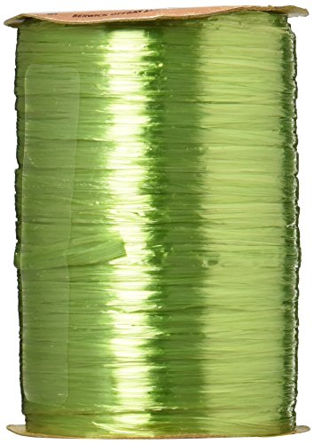 Berwick Wraphia Pearlized Rayon Craft Ribbon, 100-Yard Spool, Jungle - Rayon Pearlized Ribbon Raffia