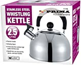 2.5L ALUMINIUM WHISTLING SPOUT KETTLE CAMPING HOME LIGHTWEIGHT S/S KITCHEN NEW