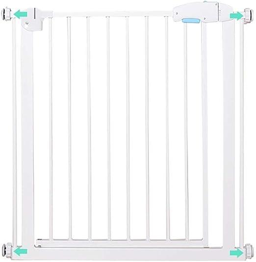 PNFP Puertas metálicas for bebés for escaleras y pasillos, Puertas Protectoras de Seguridad for Mascotas con Puerta for Perros y Gatos, se Ajusta a 76-84cm de Ancho, Blanco: Amazon.es: Hogar