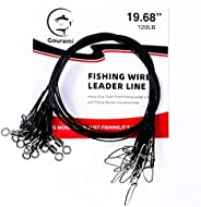 Gourami 30Pcs 19.68inch 120Lb Fishing Wire Leaders Heavy Duty Fishing Stainless Steel Wire Leaders with Swivel