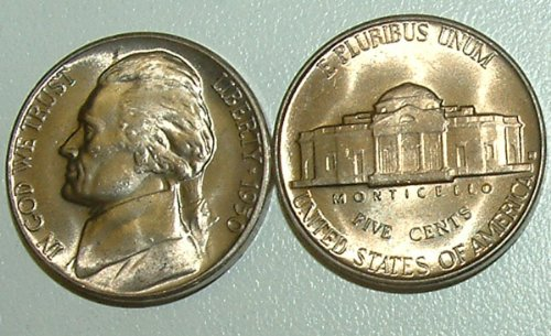 1950 -D Jefferson Choice/Gem BU Nickel (1 - Nickel Mintage Jefferson
