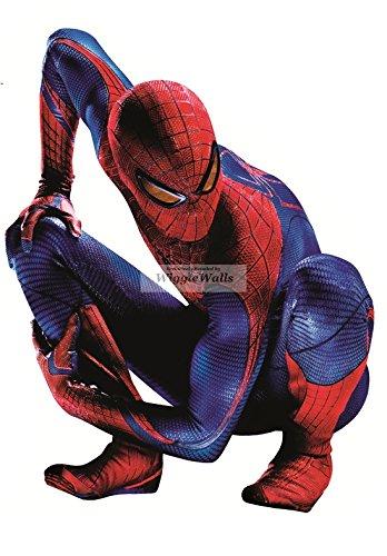 "9"" Amazing Spiderman Spider Man Marvel Comics Removable Peel Self Stick Adhesive Vinyl Decorative Wall Decal Sticker Art Kids Room Home Decor Boys Children Nursery Baby 7x9 Inch Tall"