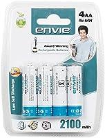 Envie 4Pcs Envie 2100Mah Ni-Mh Rechargeable AA Battery Cell