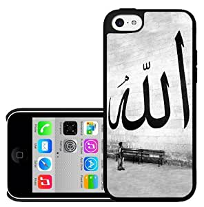 Allah God Arabic Writing Black and White Hard Snap On Cell Phone Case Cover (iPhone 5c)