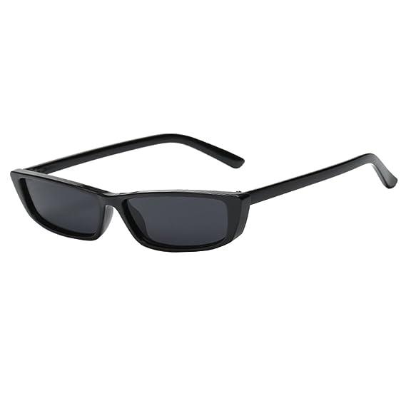 Phenovo Women Vintage Woman Brand Rectangle Sunglasses Small Frame
