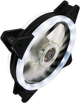 12CM Luces LED RGB PC Ventilador para Ordenador y antivibraciones ...