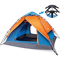 Yodo Easy Up Instant Tent for Family Camping (Orange/ Blue)