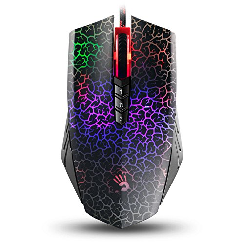 Bloody Optical Gaming Mouse with Light Strike LK Switch Scroll – Fully Programmable and Advance Macros A70