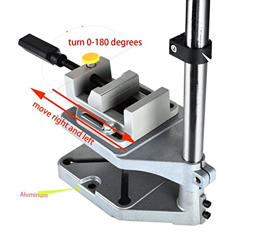 AMYAMY Electric Drill Bench/Drill Press Stand with Drill Press Vise/Drill Stand Rotary Tool Work Station Floor Repair Tool Clamp for Drilling,drill Press Table,Drill Holder (Size-Cast iron base) by AMYAMY (Image #4)