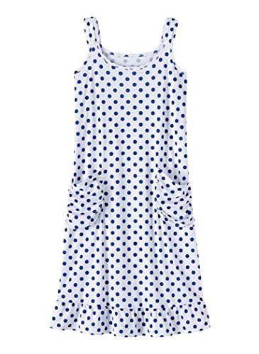 Knit Dress Shirred (AmeriMark Lounge Dress White/Navy)