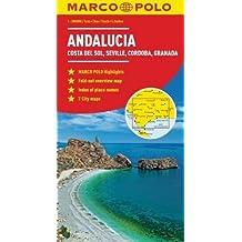 Andalucia, Costa Del Sol, Seville, Cordoba Marco Polo Map