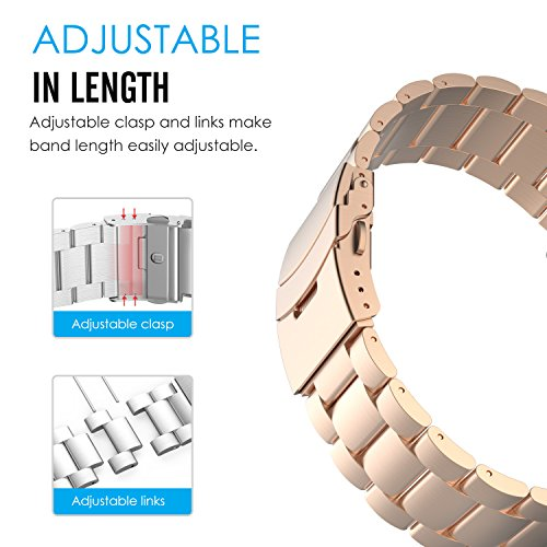 MoKo Garmin Fenix 3 Stainless Steel Link Bracelet metal replacement Strap Band.
