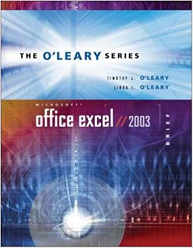 Read online O'Leary Series: Microsoft Office Excel 2003 Brief PDF, azw (Kindle), ePub