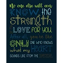 """No one else will ever know the strength of my love for you. After all, you're the only one who knows what my heart sounds like from the inside: Christian Kid Journal Note Book Lined (8""""  x 10""""), Christian Art Gifts  Blank Lined book 132 pages"""