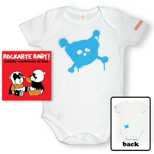 Rockabye Baby! Lullaby Renditions of Kiss + Organic Baby Bodysuit (Blue) ()