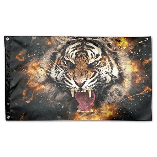 "Nicokee 3D Tiger Home Garden Yard Flags 59""x35"" Polyester Fl"