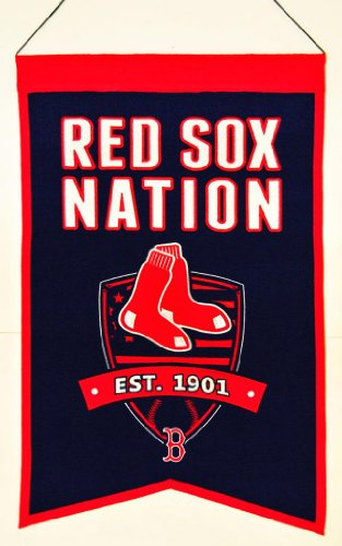 - Winning Streak Boston Red Sox Official MLB 14 inch x 22 inch Team Nation Banner Flag by 305007