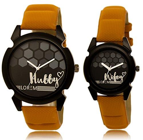 Loretta Analogue Men & Women's Watch (Black Dial Brown Colored Strap) (Pack of 2) (B07DCV4Q52) Amazon Price History, Amazon Price Tracker