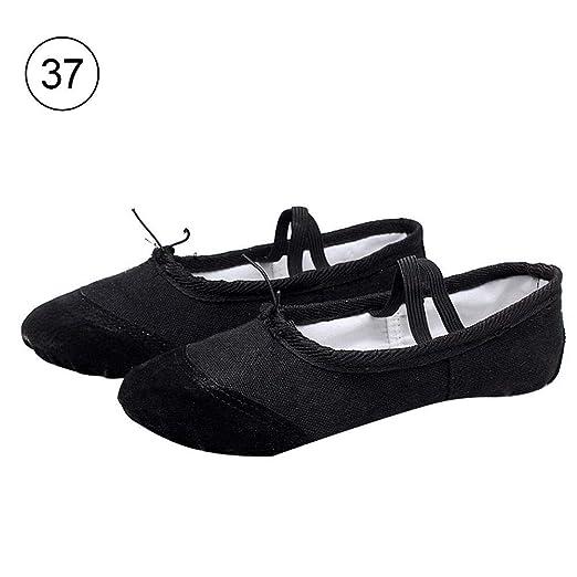 Liteness Zapatillas de Ballet de Lona para niñas/Zapatillas ...