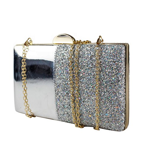 20x12x4 Clasp With Bag Evening Hardcase Leather Diamante Clasp Crystal Shiny Clutch Silver 5cm Golden Dimensions Women's Cover Wedding Stone 6xwUpA8A