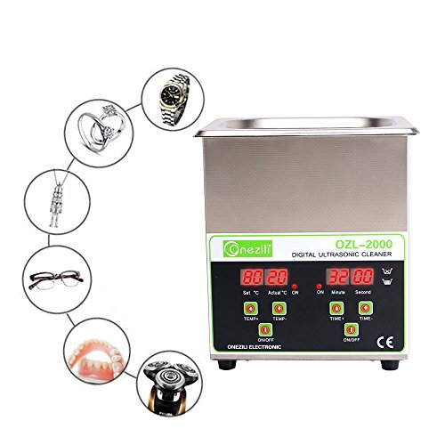 Commercial Ultrasonic Cleaner 2L Heated Ultrasonic Cleaner with Digital Timer Jewelry Watch Glasses Cleaner Large Capacity Cleaner Solution by ONEZILI (Image #4)