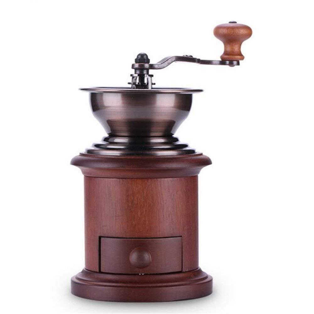 RUIMA コーヒーグラインダーハンドグラインダークラシックウッドコーヒー豆グラインダーホームマニュアルグラインダー   B07PQCMNKV