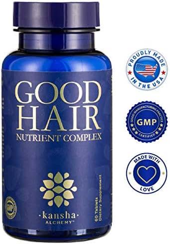 GOOD HAIR Growth Vitamins with Biotin, DHT Blocker for a Longer, Stronger, Healthier Hair - Men/Women, All Hair Types, 1-Month Supply