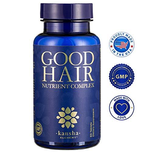 Hair Growth Vitamins with Biotin, DHT Blocker for a Longer, Stronger, Healthier Hair - Hair, Skin and Nails Supplement, 60 Tabs (Hair Vitamins Fast Growth)