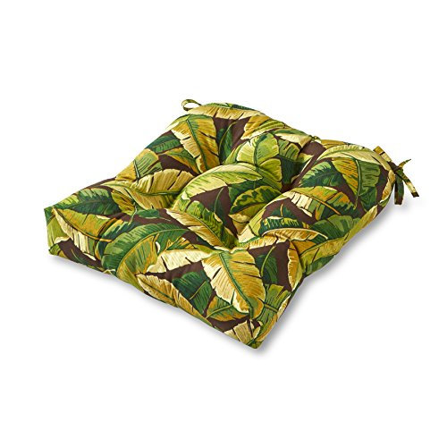 Greendale Home Fashions Indoor Outdoor Chair Cushion, 20-Inch, Palm Green