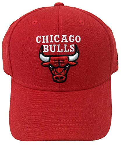 adidas NBA Chicago Bulls Team Colors Basic Logo Wool Hat (Red/Black, One Size)