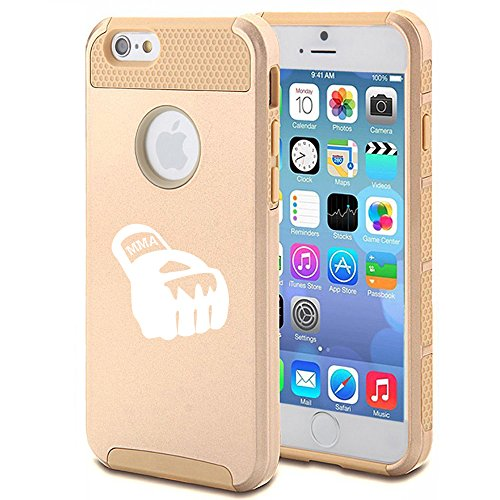 For Apple iPhone 6 Plus / 6s Plus Shockproof Impact Hard Case Cover MMA Boxing Glove (Gold)