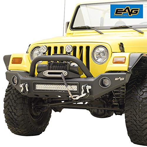 EAG Steel LED Front Bumper with Light Surround