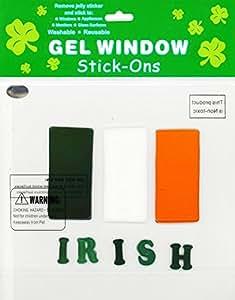 St Patrick's Day Irish Flag Gel Window Clings