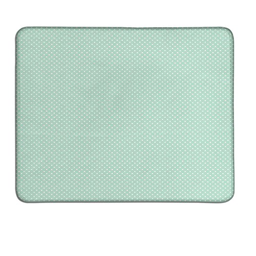 Green Dots Photo - Green extended mouse pad Retro Style Baby Nursery Themed Pattern with Little White Polka Dots Pastelcustom mouse pad with photo Mint Green White